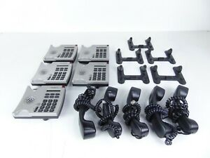 Shoretel 110 Silver Ip Business Phone With Stand And Handset Lot Of 5