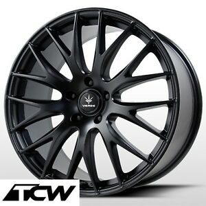 4 18 X8 Inch Verde Saga Wheels V27b Satin Black Rims For Ford Fusion 2007 2019
