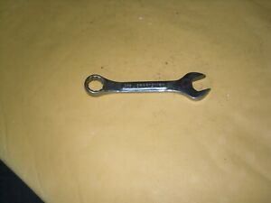 Craftsman 44105 Sae 1 2 12 Point Stubby Combination Wrench Usa