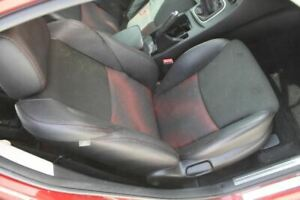 Right Front Passenger Seat Black Red Cloth Leather 12 13 Mazda 3 Mazdaspeed