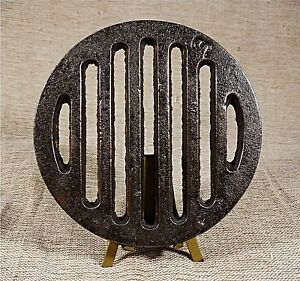 Antique Cast Iron Old Stove Pipe Flue Cover Grate Ventilator 4 27 32 Inch S