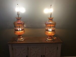 Pair Of Vintage Table Lamps Ef Ef Industries Inc Chicago