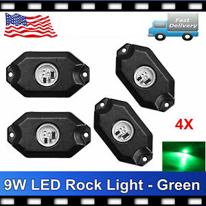 4pcs Led Rock Light Tail Lights Wireless Bluetooth Rgb Color Under Off Road Rzr