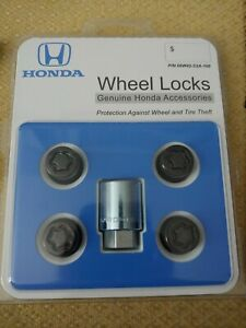Genuine Honda Black Wheel Lock Set New Oem 08w42 S2a 100 Fits Accord Civic