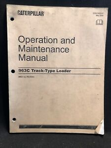 Caterpillar 963c Track type Loader Operation Maintenance Manual Bbd1 up