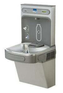 Elkay Ez H2o Drinking Fountain Lzs8wslk Light Gray Granite