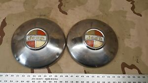 2 Jeep Kaiser Wagoneer Commando Jeepster Gladiator Dog Dish Hubcaps