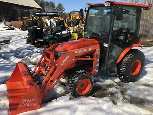 2016 Kubota B3350 Tractor With Cab Heat Air Loader Only 186 Hours In Vt