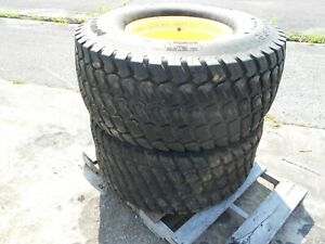 44x18 00 20 4 Ply Turf Tire On John Deere Wheel