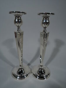 International La Pierre Candlesticks 441 Pair American Sterling Silver