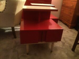 Kent Coffey Mcm Mid Century Modern 1950s The Futura Bedroom Suite Red Enamel