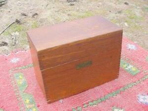 Vintage Arts Crafts Mission Oak Card File Meyer Thalheimer From Baltimore Md