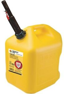 Midwest 8610 5 Gallon Yellow Poly Diesel Fuel Can Container W Flameshield Spout