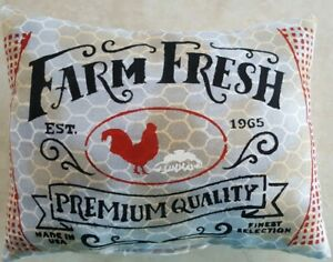 Primitive Chicken Rooster 7 X9 Grungy Mini Pillow Bowl Filler Ornies Accents