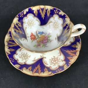 Antique 19th Century Hand Painted Tea Cup Saucer 4569