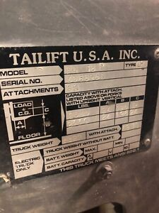 Tailift Forklift Red 5000lb Capacity Used Propane