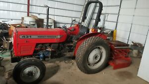 Massey Ferguson 431 2wd Tractor With New Perkins Diesel And Bushhog