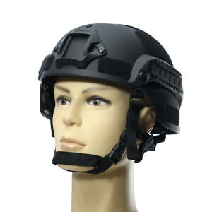 MICH2000 Outdoor Airsoft Military Tactical Combat Riding Hunting Helmet Black