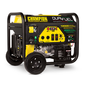 100297 Champion 8000 10000 Watt Dual Fuel Portable Generator W electric Start