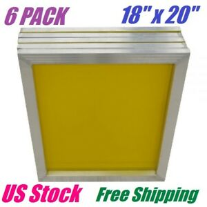 6 Pack Aluminum Frame Silk Screen Printing Screens 18 X 20 With 200 Mesh Count