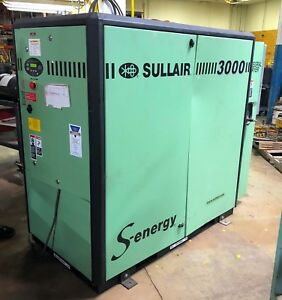 Sullair 3000 S energy Rotary Screw Air Compressor W Dryer Loc Erc7635 ym