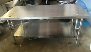Stainless Steel Medical Table W Shelf 72 L X 30 W X 33 H