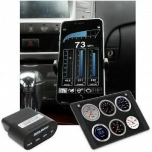 Auto Meter 6035 Obdii Wireless Digital Dashlink Gauges For Apple Ios Android