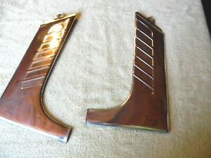 2 1952 1953 1954 Lincoln Stainless Rear Window Corners Panels R l