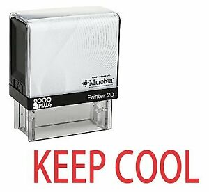 Keep Cool Office Self Inking Rubber Stamp Red Ink e 5550