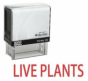 Live Plants Office Self Inking Rubber Stamp Red Ink e 5558