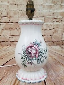 Antique Wedgewood Lamp Base Rose Unicorn Stamp 1908