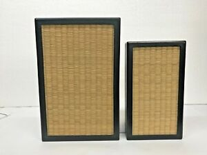 Pair Of Art Work With Wooden Fram Handmade Mid Century Japan