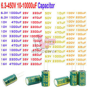 6 3 450v 10 10000uf High Frequency Low Esr Radial Electrolytic Capacitor 105c