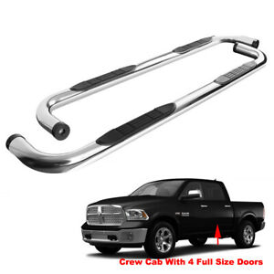 3in Running Boards Fit 2019 2020 Ram 1500 Crew Cab Side Step Nerf Bar