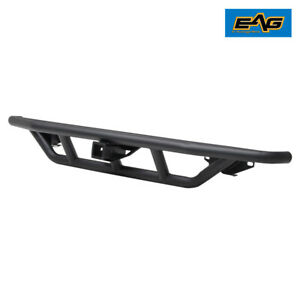 Eag Rear Bumper W Hitch Receiver Steel Tube Fit For 87 06 Jeep Wrangler Yj Tj