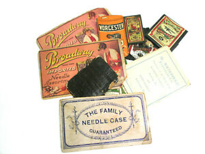 Antique Sewing Needles Sharps Advertising Books Germany Austria U S A Eng