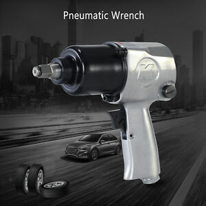 1 2 Inch Heavy Duty Air Impact 750n M Pneumatic Impact Wrench Spanner Set Chrome