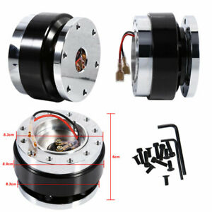 6 Hole Bolt Ball Racing Steering Wheel Quick Release Hub Adapter Removable Kit