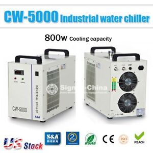 Cw 5000 Industrial Water Chiller For 5kw Engraver 80w 100w 120w Co2 Laser Tube