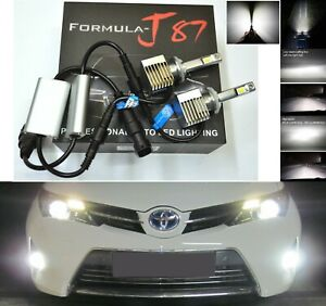 Led Kit S 100w 879 6000k White Two Bulbs Fog Light Upgrade Replacement Plug Play