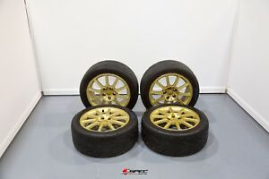 Used Jdm Subaru Impreza Wrx Sti Limited Gold Version 9 Wheels 5x114 3