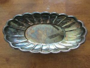 Reed Barton 111 Silverplate Oval Candy Dish