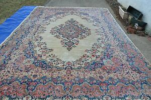 Large Size Kirman Rug Kirman Carpet 10x14 Estate Find Vintage Jackie S
