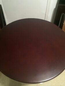 New 28 46 restaurant Solid Wood Edge Table Top With Mahogany Finishing