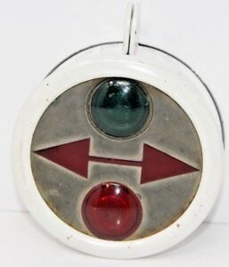 Vintage Jefferson Red Amber Glass Stop Tail Light Green Red Arrow Lens Mega Rare