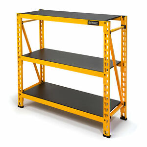 Dewalt 4ft Tall Steel And Laminate 3 Shelf Garage Storage Rack Yellow Dxst4500
