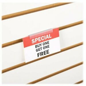 Slatwall Economy Sign Holder Flush Signage Card Grip For Slatwall Panels
