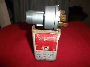 Nos 1958 1959 Corvette 1957 Chevy Ignition Switch 1116547 D1427