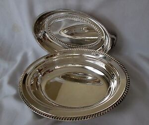 Vintage F B Rogers Silver Plate Serving Casserole With Lid