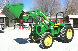 John Deere 5065e With Jd 553 Loader Bucket Spear Ships At 1 85 Loaded Mile